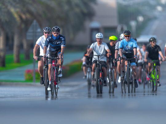 Dubai Fitness Challenge: Hamdan rides out with Dubai business leaders