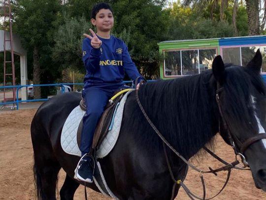 Horse-riding dream inspires Emirati schoolboy to take control of Type 1 diabetes in Abu Dhabi