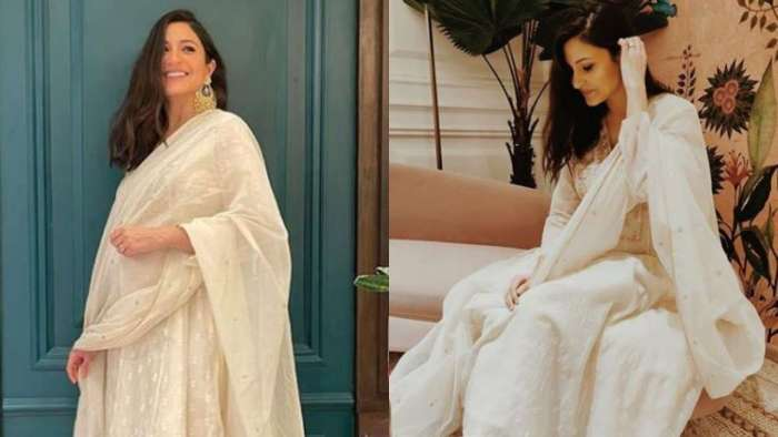 Mom-to-be Anushka Sharma flaunts pregnancy glow as she dazzles in white for Diwali celebrations
