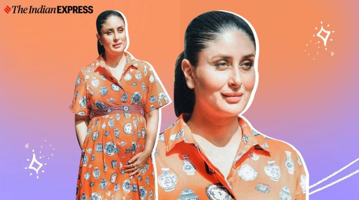 Kareena Kapoor Khan nails this fun tangerine dress; check pics