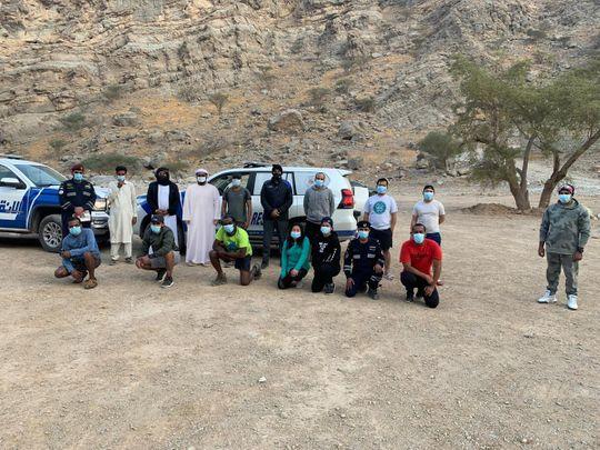 RAK Police rescue nine people stranded in Wadi Naqab