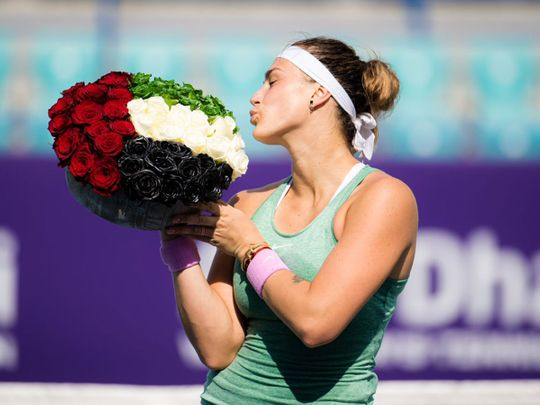 Aryna Sabalenka sees off Veronika Kudermetova for Abu Dhabi WTA Women's Open crown