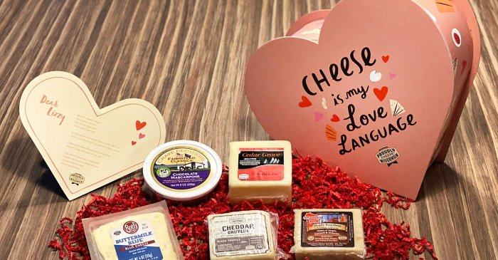 This Company Will Send Your Loved One a Free Heart-shaped Box of Cheeses This Valentines Day