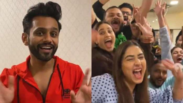 'Bigg Boss 14' runner-up Rahul Vaidya hops on viral 'pawri ho rhi hai' trend with Disha Parmar