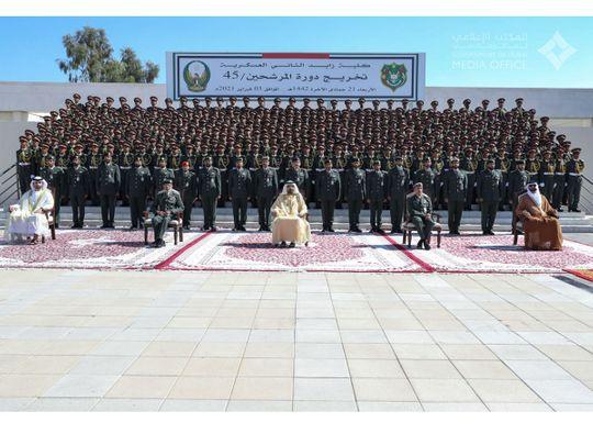 Mohammed bin Rashid attends Zayed II Military College graduation