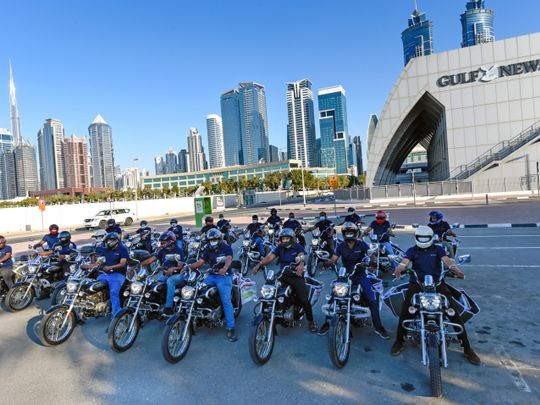 Safe, fast, efficient: Gulf News special promotion rolls out on new fleet of 300 bikes