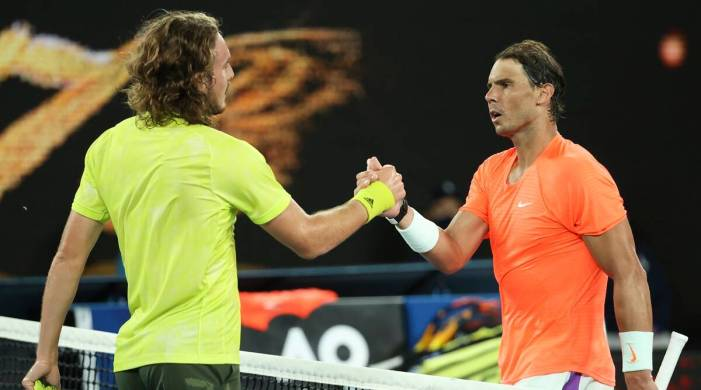 Tsitsipas ends Nadal's bid for record 21st Grand Slam title