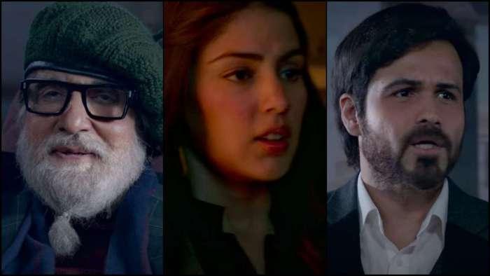 Amitabh Bachchan and Emraan Hashmi play a dangerous game, Rhea Chakraborty makes appearance