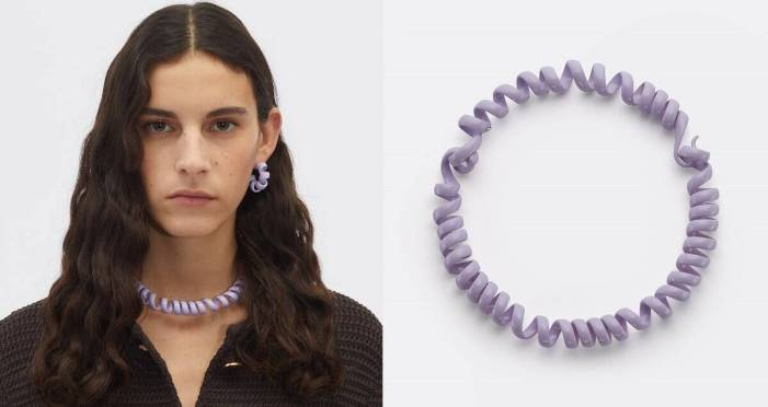 Luxury brand sells telephone cord-like necklace; you won't believe the price