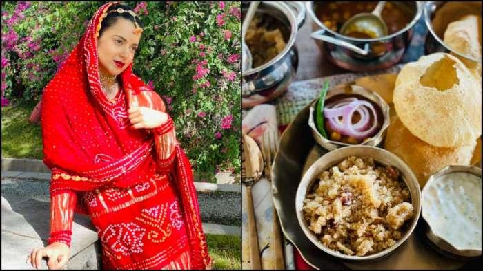 Netizens brutally slam Kangana Ranaut for sharing photo of her 'Ashtami parsadam', trend 'onion' on Twitter