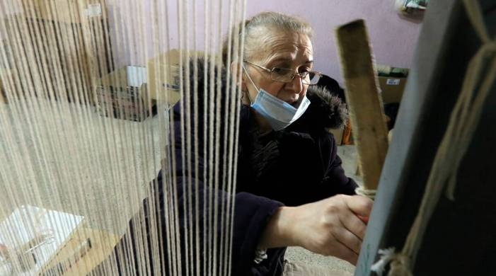 Training opens 'a window of hope' for Albanian rug-weavers
