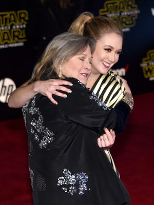 See adorable photo of Billie Lourd's son dressed as Princess Leia for Star Wars Day
