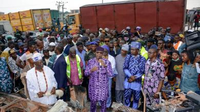 Photo of Gov Abiodun weeps during visit to victims of Ota Tanker Explosion