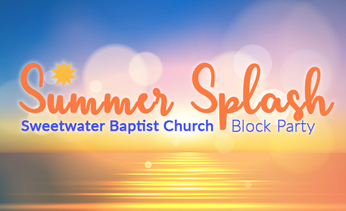 Community Block Party at Sweetwater Baptist Church