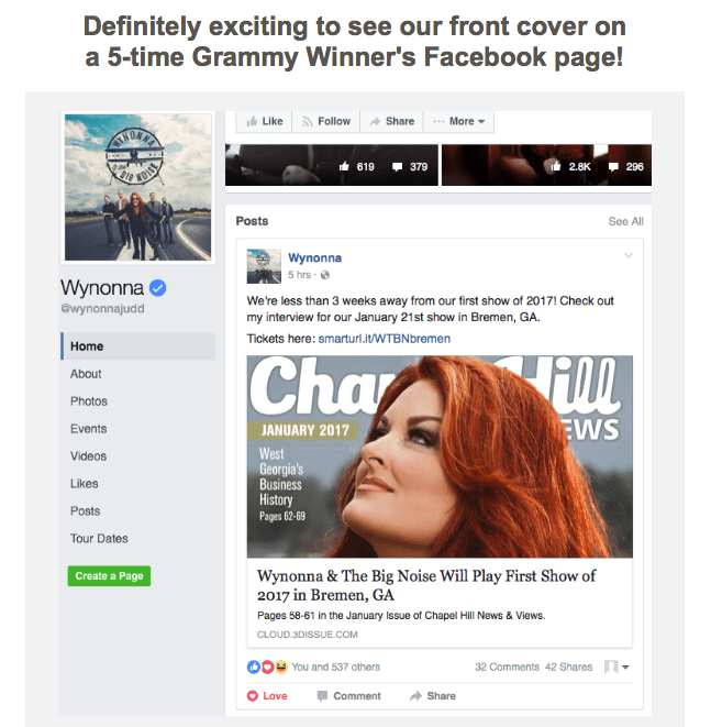 Wynonna Facebook Post