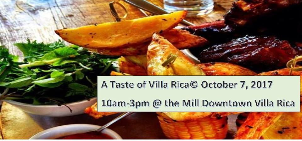 A Taste of Villa Rica October 7, 2017