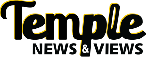 Temple News & Views Logo_B&W