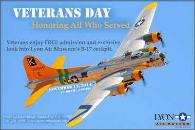 Lyons Air Museum Veterans Day 2014