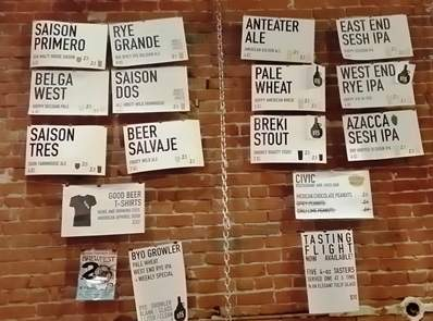 Beers available at the Good Beer Company
