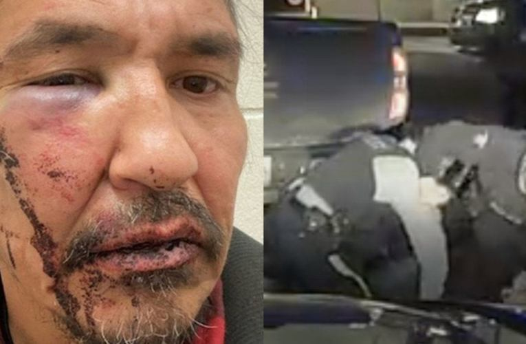 Cop Who Violently Arrested Indigenous Leader Had a Pending Assault Charge : worldnews