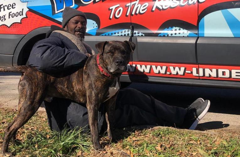 A homeless man rescued all the animals at a shelter after it caught on fire