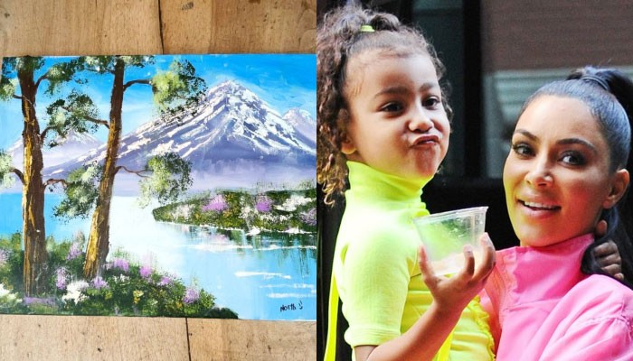 Netizens do a double take at Kim Kardashian's daughter North West's painting