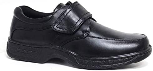 Cushion Walk Men's Leather-Lined Lightweight Formal Business Work Comfort Lace-Up, Slip-on or Touch Fastening Shoes Size 6-11 Wide Fitting