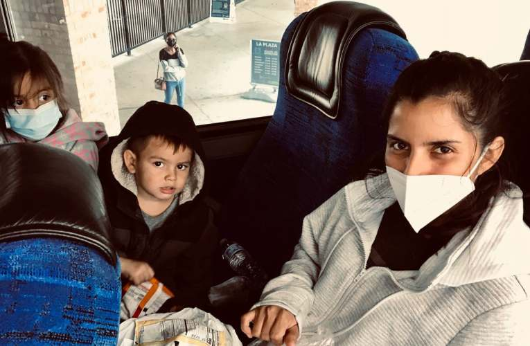 Hopes and fears on the migrants' bus bound for a new life in America