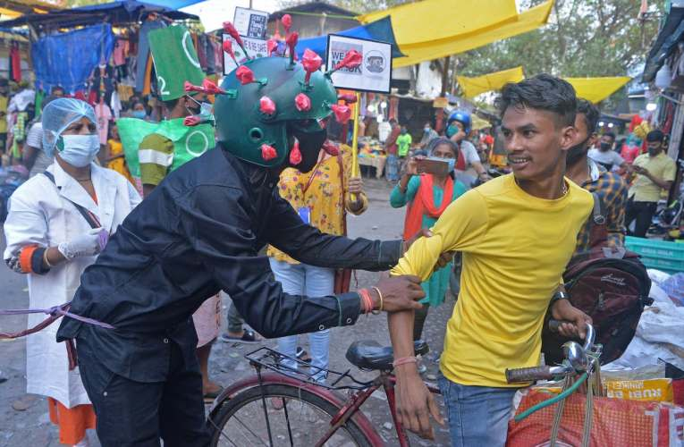 Only 50% in India wear masks – and most who do don't cover nose