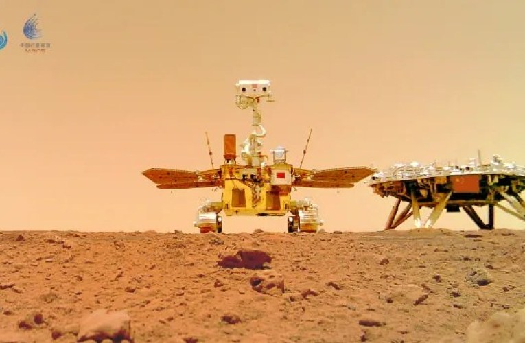 Chinese rover and lander pose for portraits on Mars   CBC News