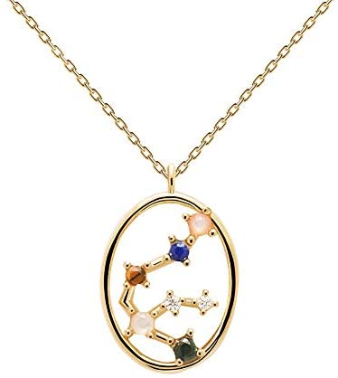 PDPAOLA – Aquarius Necklace – 925 Sterling Silver 18k Gold Plated – Jewellery for Women