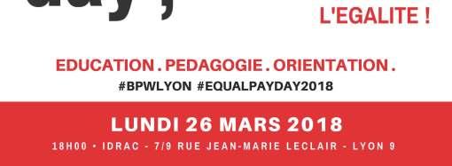 EQUAL PAY DAY – LYON / L'Ecole, favorise-t-elle l'égalité filles-garçons ?