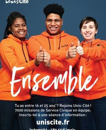 Unis-Cité Auvergne-Rhône-Alpes recrute plus de 400 services civiques