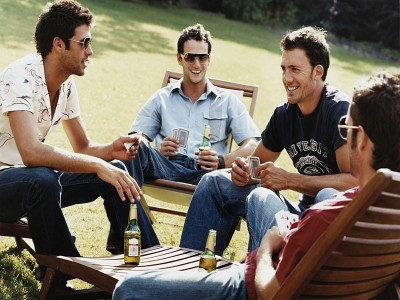 Some guys choose to be with his bros and be an alcoholic as a recovering step from his trauma.