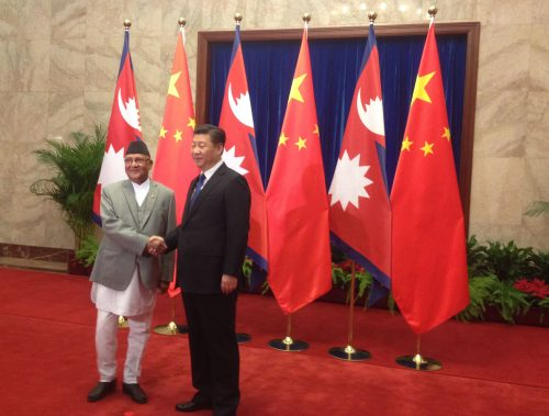 Nepalese PM Oli and President Xi Jinping
