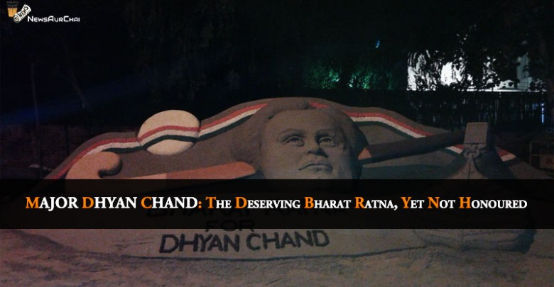 Dhyan Chand Not Honoured With Bharth Ratna