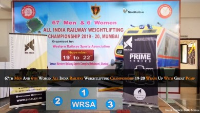 Photo of 67th Men & 6th Women All India Railway Weightlifting Championship 19-20 Wraps Up With Great Pomp