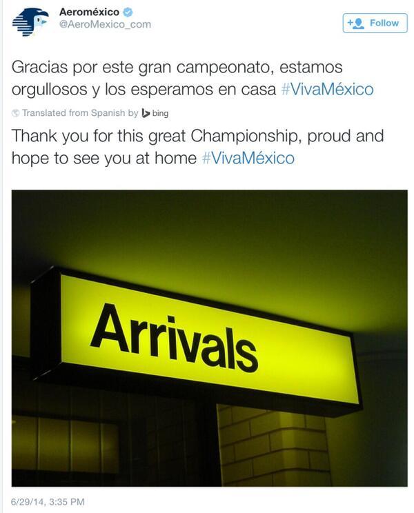 Resposta Aeroméxico Tweet KLM