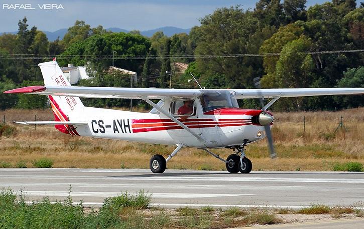 O Cessna pertencia ao Aero Clube de Portimão, no Algarve