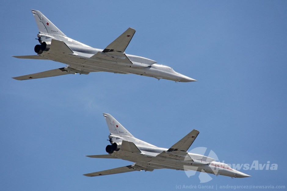 Tupolev Tu-22M3. Das 500 unidades construídas, cerca de 100 ainda se mantêm operacionais na Rússia.