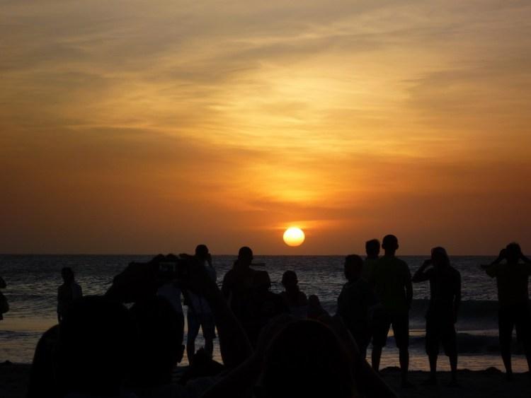 Pôr-do-sol na Praia de Jericoacoara, no Estado do Ceará.