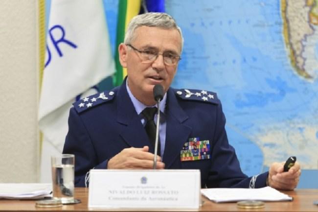 O Comandante da Aeronáutica, Tenente-Brigadeiro do Ar Nivaldo Luiz Rossato.