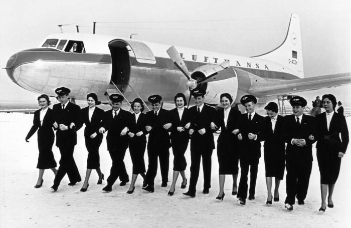 1955 - Curso de assistentes de bordo