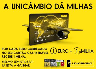 A Unicâmbio dá milhas 1€=1Milha