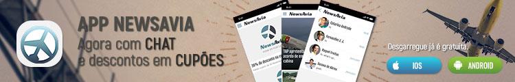 APP NEWSAVIA - Agora com chat e descontos em cupões