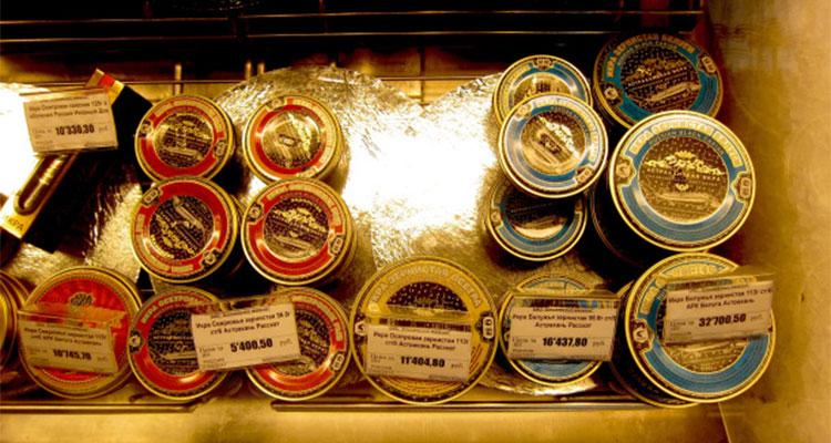 Caviar a venda no Yeliseev