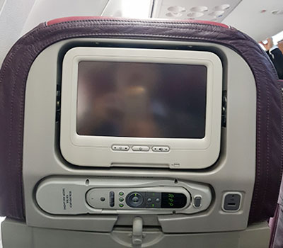Figura 5: PTV em classe económica no B.737-800 9M-MSB da Malaysia Airlines