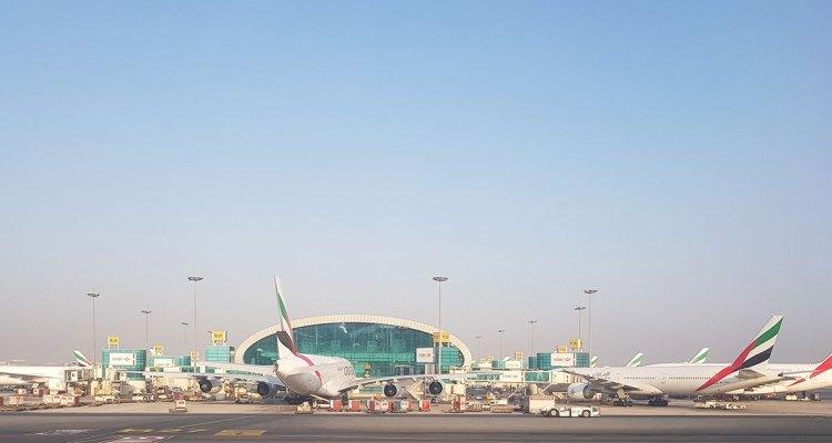 Visita ao hub ME3 do Dubai em A380 da Emirates