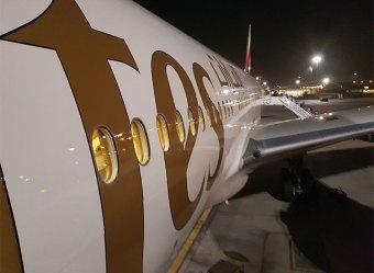 Figura 2: Fuselagem do Emirates Boeing 777-300ER A6-EGE no Dubai