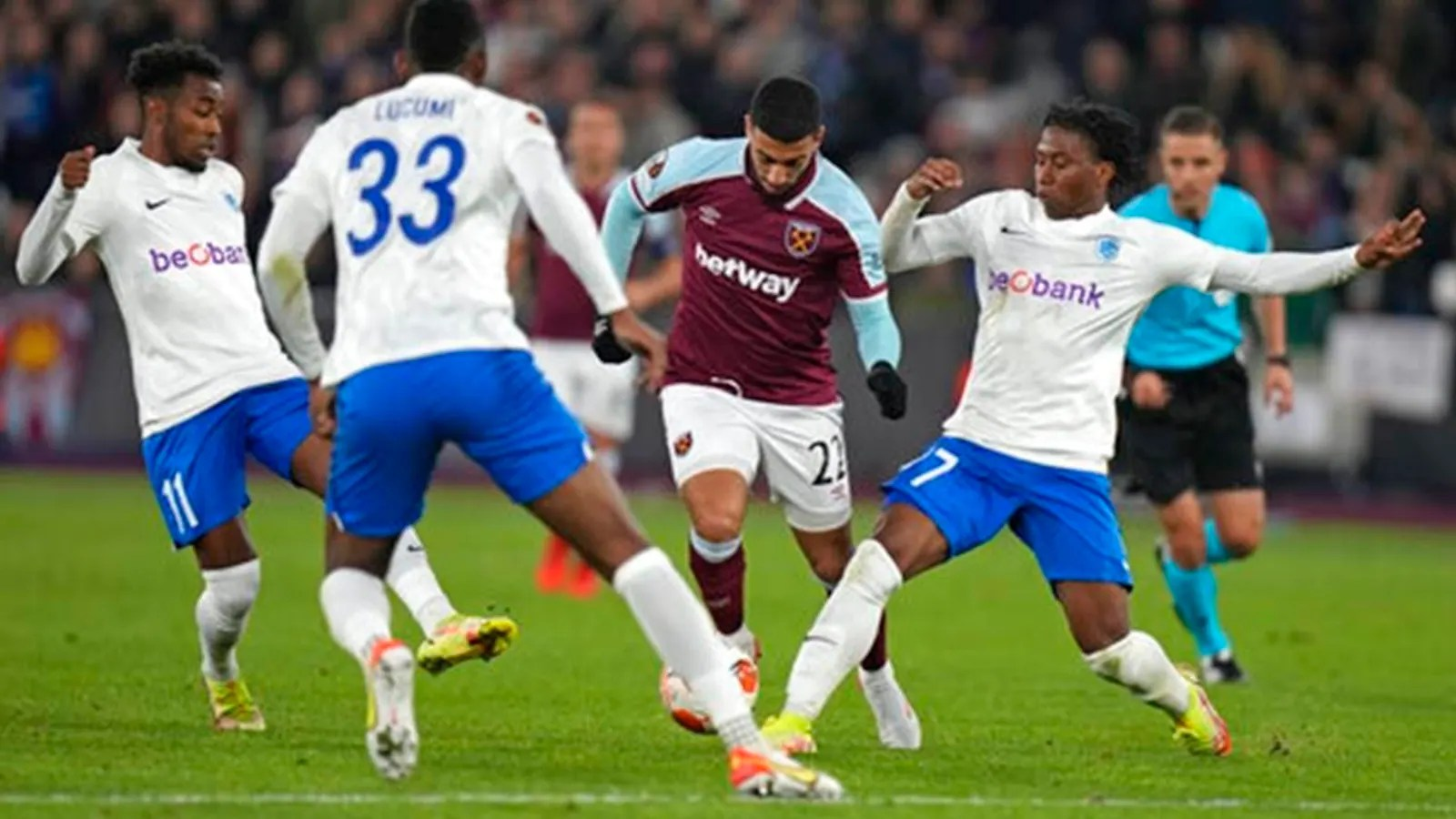 Europa League: West Ham take control in Group H after 3-0 win over Genk